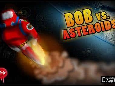 Bob vs Asteroids iphone Game