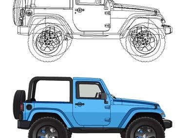 Jeep Vector Work