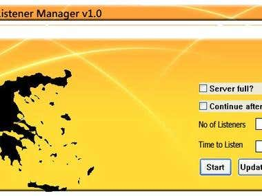 ShoutCast Listener Manager (Software)