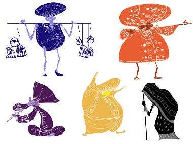 Silhouette characters