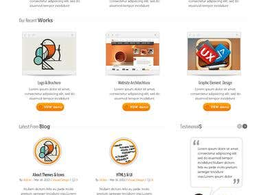 FlexiFresh Wordpress Theme Design