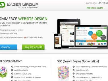 Eager Group Web Site and Logo Deisgn