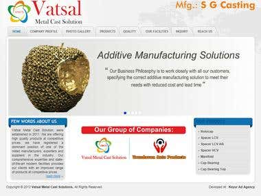 vatsal Metal Cast Website