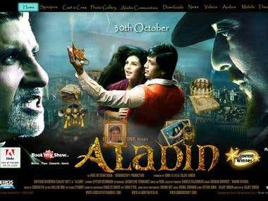 Aladin Movie site for Eros Entertainment