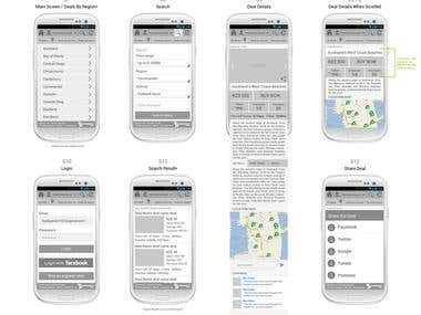 Backpacker Deals' Android App Design