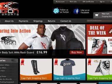 Tigon Sports Website