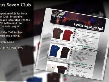 Lotus7 Club - Online catalogue for Lotus 7 Club