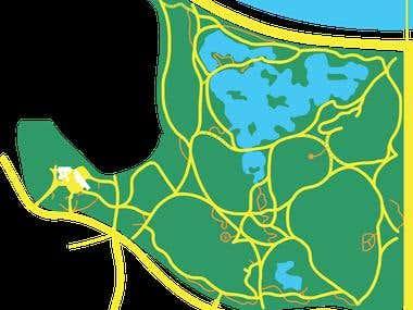 vector map design