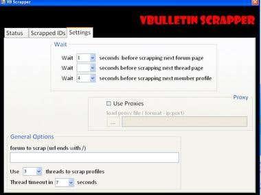 VB Scrapper - Vbulletin Scrapper (software)