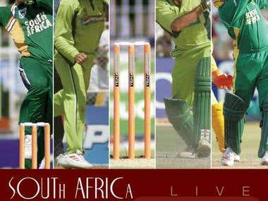 soth Africa tour of pakistan poster
