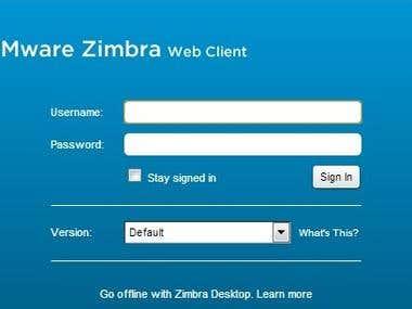 Vmware Zimbra Email Server