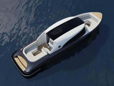 9.1m Retro Modern Superyacht Tender