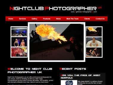 Nightclubphotographeruk.com custom wordpress website