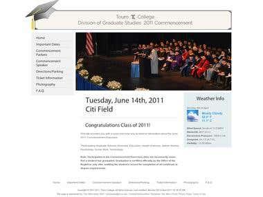 Touro College Division of Graduate Studies Commencement Webs