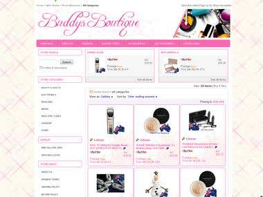Buddys Boutique ebay Store Design and Setup