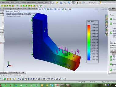 Video of tensile strenght simulation 3d solid work