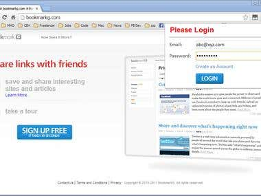 Bookmarking service on Chrome extension & Firefox addon