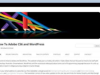 WordPress (How-To) Video Website