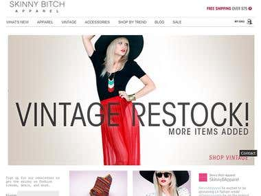 Apparel Website ECommerce Website Designing