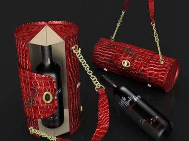 Little Black Dress Wine Bag