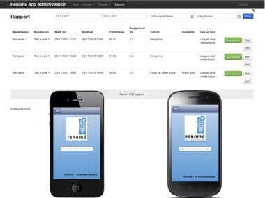 Renome Time Manager Android/iOS/PHP