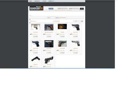 Product and Content development for a gun database Website