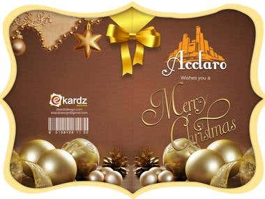 Acclaro Christmas Card Design