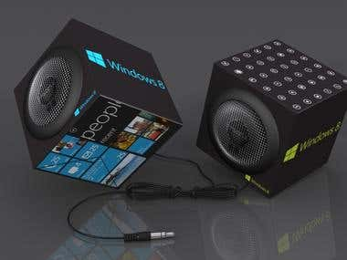 Windows 8 Custom Foldable Speakers