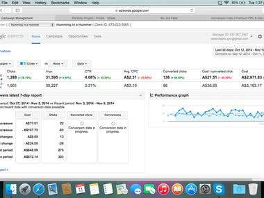 Complete Adwords Management for Client.