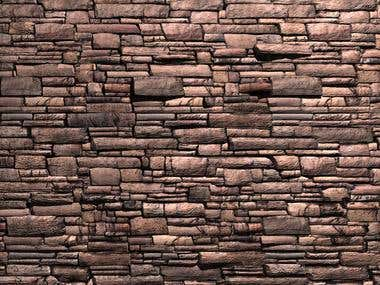 3d Model of Stone wall made in maya Exportable to 3ds Max
