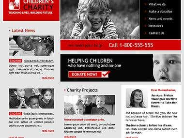 Charity website Development