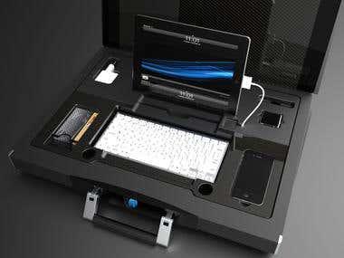 mobile organizer - suitcase