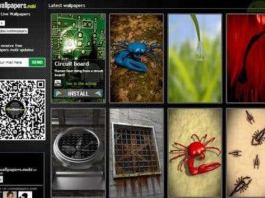 Livewallpapers portfolio site