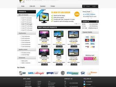 Website Design for Beetronics web shop