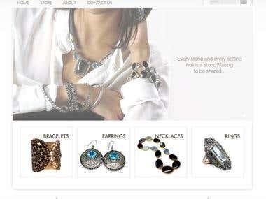 Wordpress based jewellery store