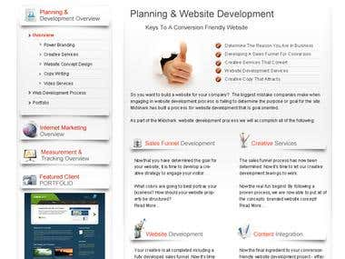 Our Mainly Services web design and Development, PHP, HTML5,