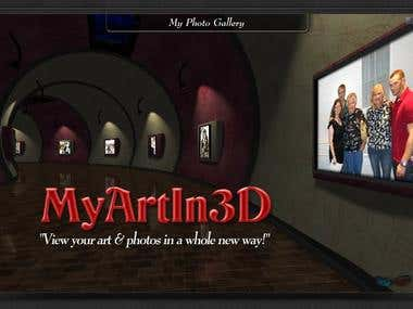 Jeff White Sr. 3D Art Gallery using your own photos