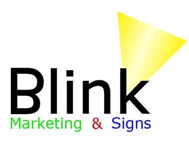 Blink Marketing & Signs logo entry for contest