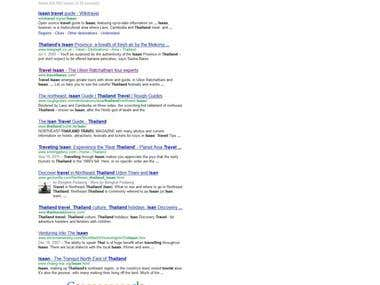 Complete SEO Campaign for TravelIsaan.com