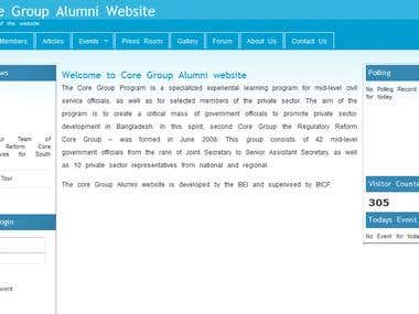 CORE GROUP ALUMNI
