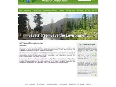 website re-design of GEF Pakistan (Global Envirn Facility)