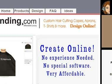 Online customize store