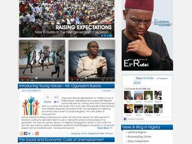 Website for Nasir El-Rufai