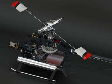 Vision 90 RC Helicopter - Frame