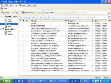 Bulk e-mailing for Application marketing company