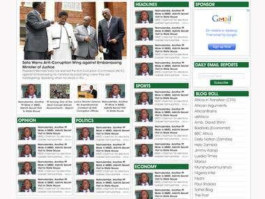 Website for Zambia Reports