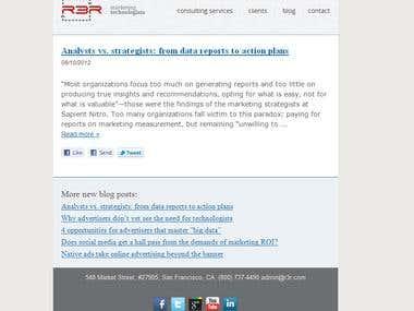 RSS newsletter