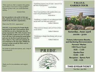 Garden Tour Brochure