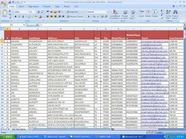 Data Extraction from Emails