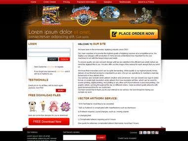 USA Client Embroidery Website